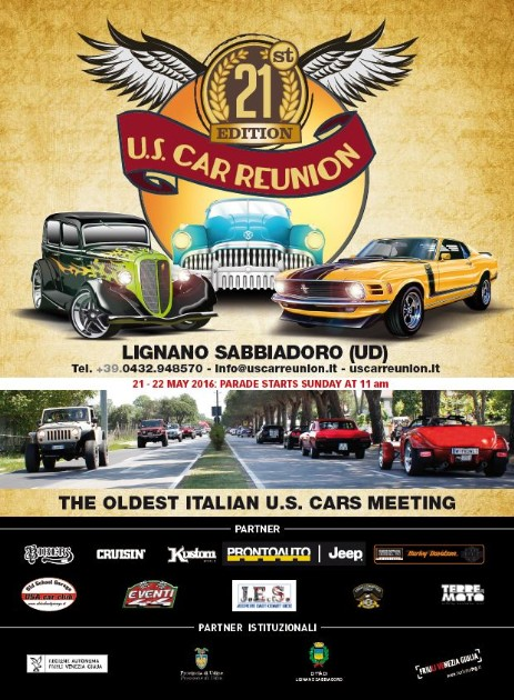 Mustang Register of Italy presents US Car Reunion 2016